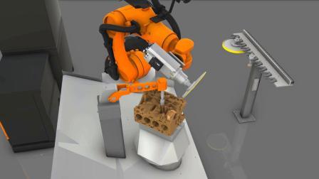 Visual Components 数字化工厂仿真软件:机器人铸件打磨