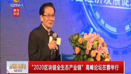 """成视新闻 2020 """"2020区块链全生态产业链""""高峰论坛在蓉举行"""