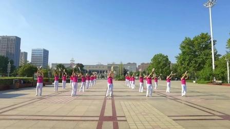 宿州市柔力球协会燕之舞队王燕等晨练《今天是你的生日我的中国》创编李翠芳