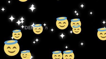 歌曲配乐 s834 卡通笑容可爱表情包动画素材视频 背景视频
