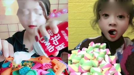 小姐姐直播吃:巧克力配奶油糖果,一口超过瘾,我向往的生活
