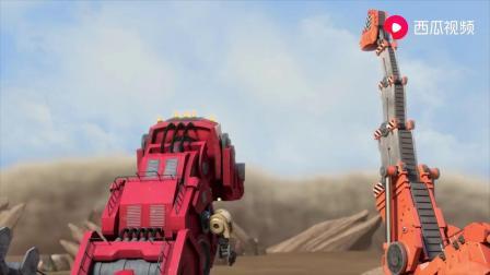 沙尘暴席卷恐龙家园 暴龙机械风暴中寻找车库挡风板.mp4