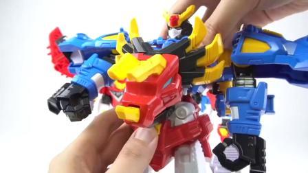 迷你特工队超级恐龙力量:弗特与坐骑合成新机甲了