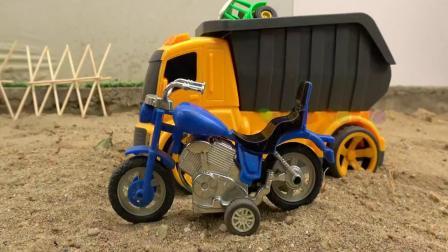 飞马感谢摩托车和汽车工程车玩具,婴幼儿宝宝早教益智游戏视频