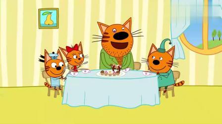咪好一家:马芬来到家里照顾小猫们,家里乱成一片!