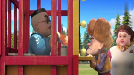 熊出没光头强把小孩子弄流泪被孩子爸爸怒视