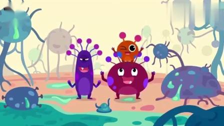 吐司上的细菌培养儿童讲卫生好习惯宝宝巴士动画片.mp4