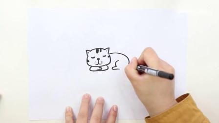可爱小动物简笔画.mp4
