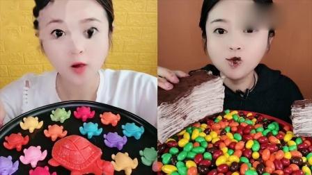 小姐姐直播吃:巧克力千层蛋糕,一口超过瘾,我向往的生活
