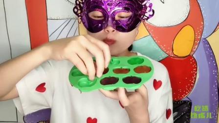 """吃货馋嘴:妹子吃""""创意小苹果果冻"""",味道很赞哟,是我向往的生活"""