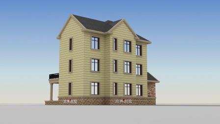 别墅款式设计图,建一栋富贵逼人