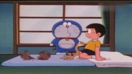 哆啦A梦:大雄孵出恐龙,还是双叶铃木龙,真的超级可爱啊!.mp4
