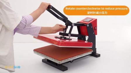 38*38cm热转印烫画机欧式高压烫画机小型T恤烫画印图机器设备T恤印花厂家