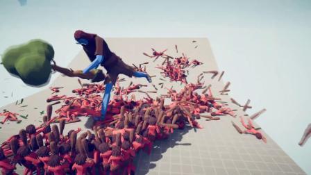 树巨人挑战1000远古人,他能挑战成功吗全面战争模拟器游戏解说
