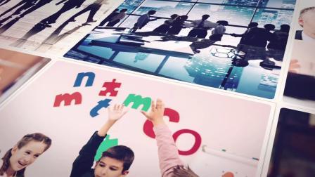 视频制作 1634 超酷时尚大气图片翻转折叠照片墙图片墙视频墙企业公司活动员工照视频ae模板 ae教程