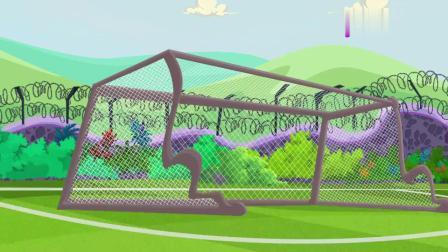 小鸡勇斗傻狐狸:狐狸好悠闲,打球赢了小鸡,坐那喝点椰汁