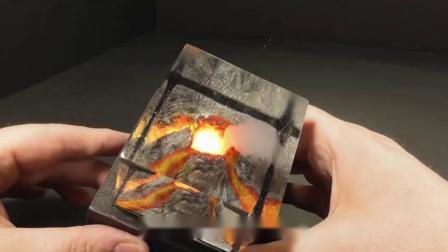 牛人用树脂制作燃烧的蜡烛,看到成品后,不禁竖起大拇指!