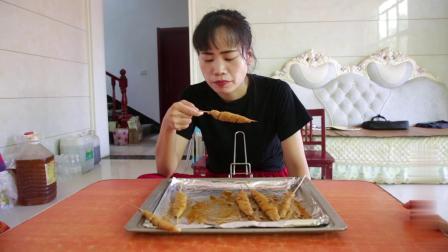 娟子在家挑战自制面筋,烤好端上桌为啥没人吃明明咬一口不敢吃