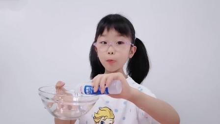 没有成型水怎么做起泡胶?鱼宝用家里材料自制,无硼砂超简单