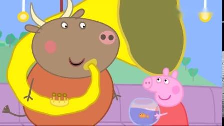 小猪佩奇:金鱼金金不爱吃饭了,佩奇好担心,带她去看兽医!