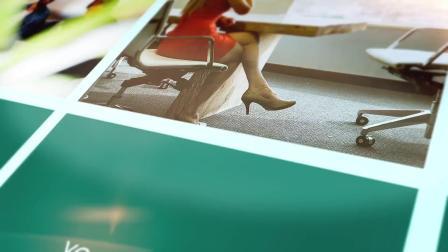 视频制作 1653 三维方块翻转可添加243张图片的公司企业员工照片墙图片墙视频墙颁奖年会活动图片集视频ae模板 ae教程