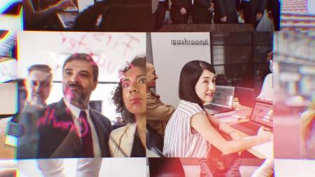 视频制作 z9 可放50张照片超酷照片墙图片墙滑动图片汇聚公司企业标志logo演绎片头ae模板 ae教程