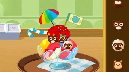 妙妙开甜品店,制作彩虹冰淇淋 宝宝巴士益智游戏