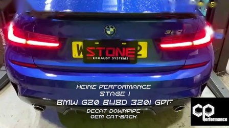 BMW G20 B48D 320i  Stone Cat-less Downpipe by CP Performance HK.mp4
