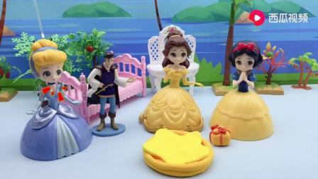 公主们和王子玩过家家游戏,她们准备做披萨,能做好吗?.mp4