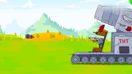 坦克世界动画:芬达坦克和可乐坦克的联手了 这谁顶得住啊?.mp4