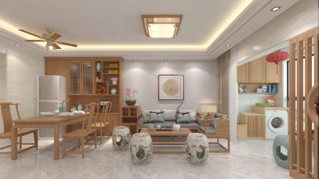 知性人文的现代中式风格,低调的配色与木质所组构的温度,缔造出舒适清雅的生活