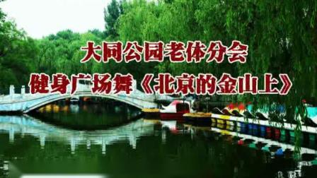 大同公园老体分会广场舞《北京的金山上》.mp4