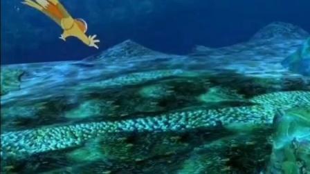 【蓝猫淘气三千问恐龙时代】取蛇颈龙基因之路,从海上到海里.mp4