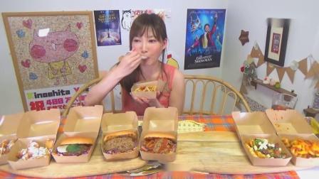 木下狂吃猪肉汉堡,高热量食物看着真油腻,她竟吃得下去!