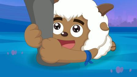 喜羊羊:灰太狼在搬石头,却飞来横祸,被无缘无故的殴打!