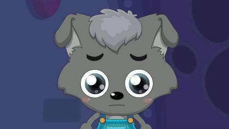 喜羊羊:小羊们欣赏月亮,走近才发现是大鱼眼睛,小羊陷入危险!