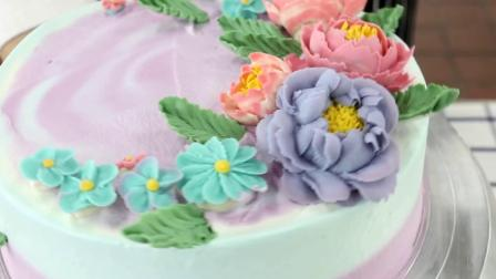 西餐烹饪系张玉平老师作品《韩式豆沙裱花蛋糕》