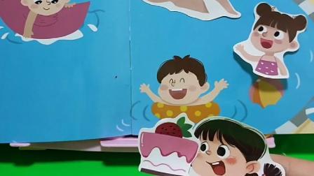 小女孩不想吃蛋糕,就丢在泳池里,这样做对吗?