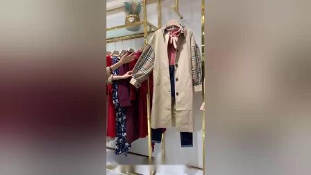 品牌折扣女装批发走份 帛逸2020夏装 广州女装尾货批发市场最便宜的尾货