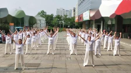 江苏省健身气功《八段锦》南京市高淳区50位参赛人员合练