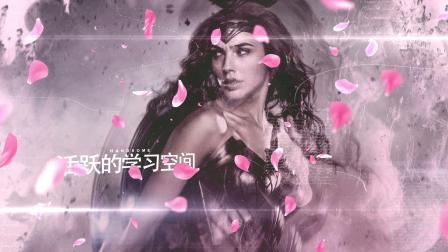 558水墨樱花浪漫爱情情人节玫瑰花瓣飘落立体三维相册图片动画AE模板