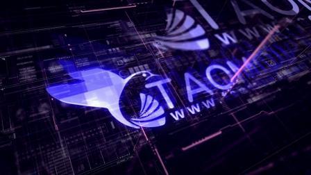 572数字网络网格线条科技感企业LOGO标志演绎片头动画演绎AE模板