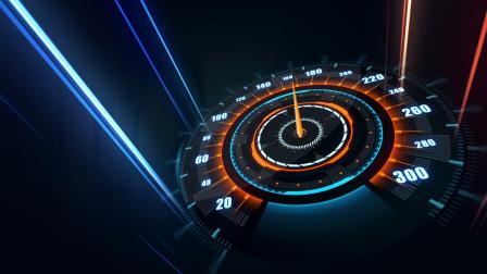 594炫酷光束流光线条穿梭汽车码表赛车俱乐部片头开场特效动画AE模板