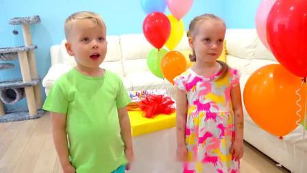 萌娃小可爱们给妈妈做了一个漂亮的生日蛋糕,小家伙们可真是贴心呢!萌娃:妈妈,生日快乐!