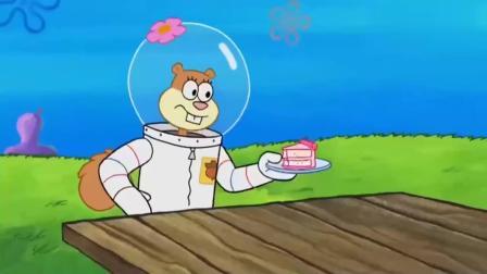 海绵宝宝:海底生物们正在吃好吃的蛋糕,突然发生了地震!