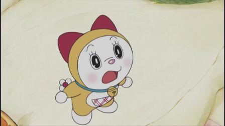 哆啦A梦大雄困在蛋糕里,哆啦变小去营救,上演蛋糕大作战