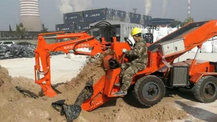露天扒沙,扒渣机除了可以矿山使用,露天工地使用的时候也很方便