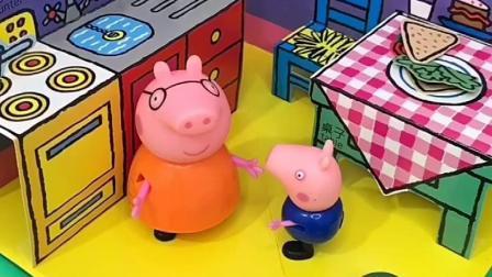 乔治想吃饺子,猪妈妈包了五彩饺子,他吃了几个?