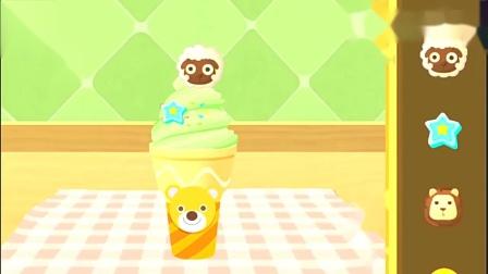 宝宝巴士妙妙的甜品店开业了,帮小猴子做一个好吃的冰淇淋吧。