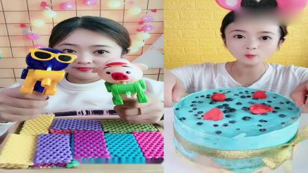 小可爱吃播:棒棒糖神器、爆浆蛋糕,一口下去超满足,我向往的生活